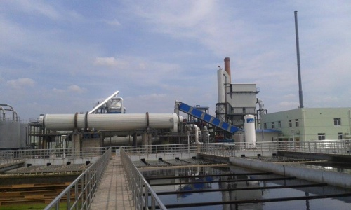 Plant for waste water sludge recycling